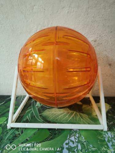Esfera Para Hámster 18cm Con Base Varios Colores