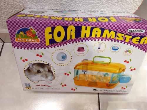 Jaula De Acrilico Para Hamster Un Pisos 40*26*26 Color Azul