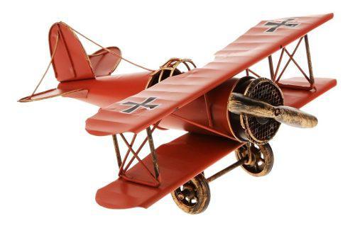 Juegos De Adorno De Casa 21*22*9.5cm Modelo De Avión Biplan