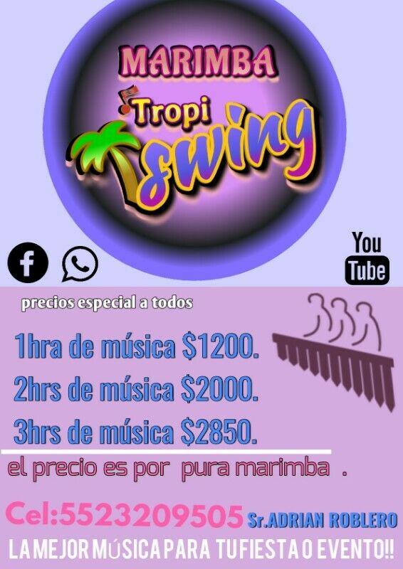 Marimba tropi swing tu mejor opción para tu evento o