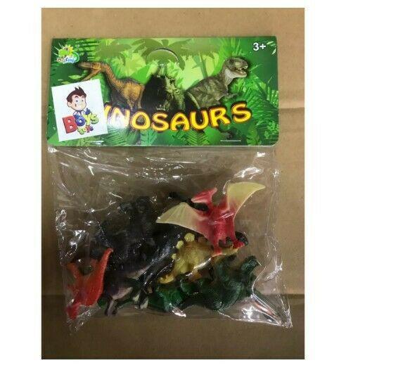 Paquete Dinosaurios Chicos Juguete Maqueta Trabajo