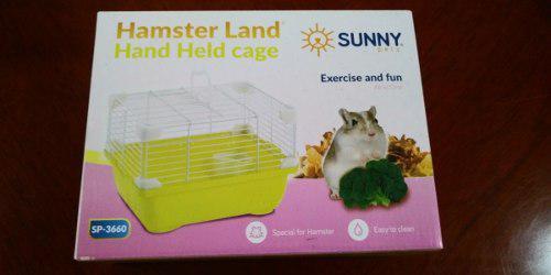 Sunny Jaula Hamster Land Hand Held Cage Sp3660 24x18.3x16 Cm