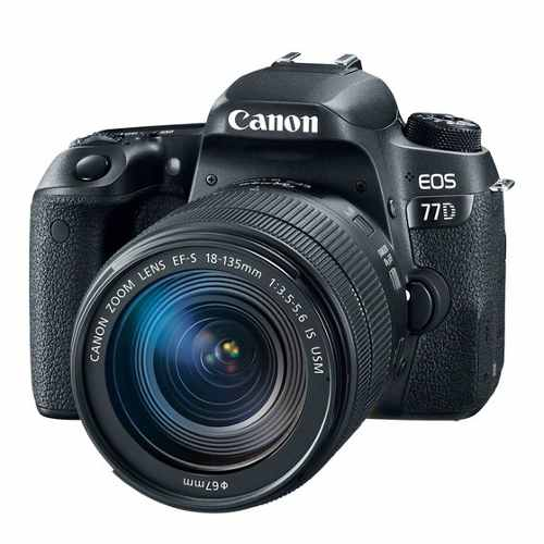 Cámara Canon Eos 77d Con Lente mm