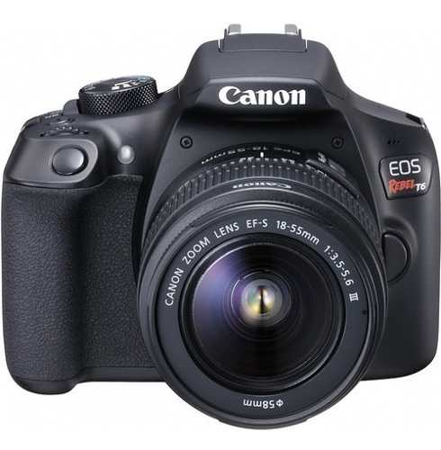 Cámara Canon Eos Rebel T6 Kit Con Lente mm
