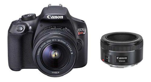 Cámara Canon Eos Rebel T6 Lente  + Lente 50mm Y Sd