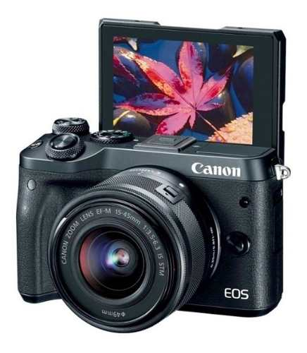 Cámara Digital Canon Eos M6 Con Lente De  Mm Sin