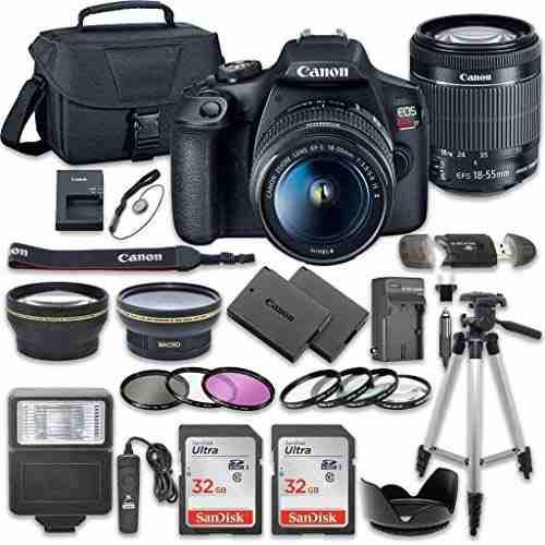 Cámara Dslr Canon Eos Rebel T7 Kit Más 2 Sandisk 32 Gb