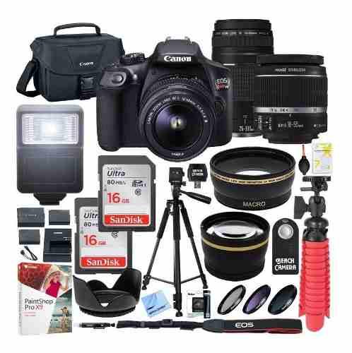 Kit Camara Canon Eos Rebel T6 Dslr + Lentes mm&mm
