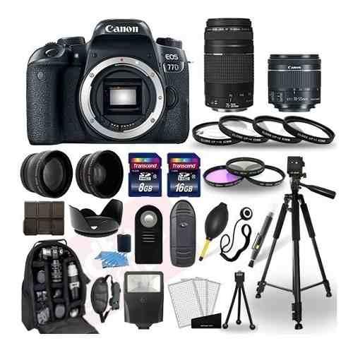 Kit Cámara Canon Eos 77d Dslr -mm + 30 Accesorios