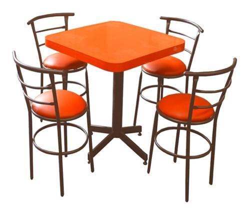 Mesa Comedor Bar Restaurante 60c Y Sillas Chabely