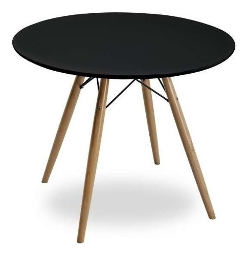 Mesa Eames 80cm Negra Excelente Calidad!!