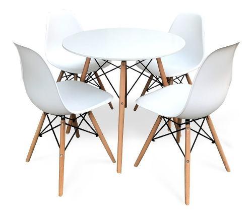 Mesa Eames Blanca Con 4 Sillas Modernas - By Arei Design!!