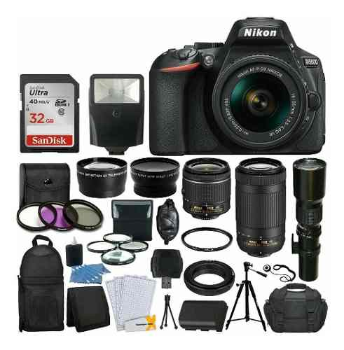 Nikon D Con  Mm Vr +  Mm Vr + 500mm + 32gb