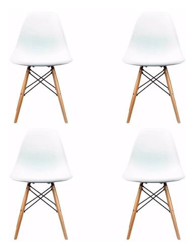 Set 4 Sillas Eames Moderna Minimalista Envios 3 Días