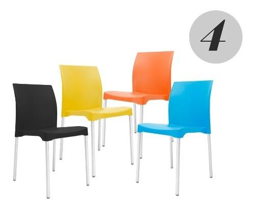 Set De 4 Sillas Modernas Para Restaurante