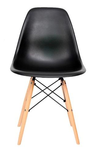 Silla Eames Negra Patas De Madera - Promoción!