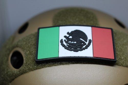 3 Parche Pvc 3d Mexico Usa Black Ops Medico Army Uniforme