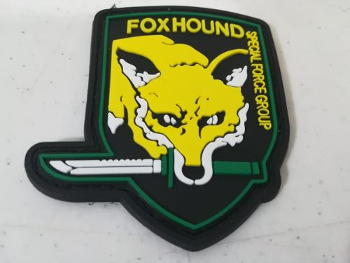 3pz Parche Foxhound De Pvc Pegote Contactel Envio Gratis