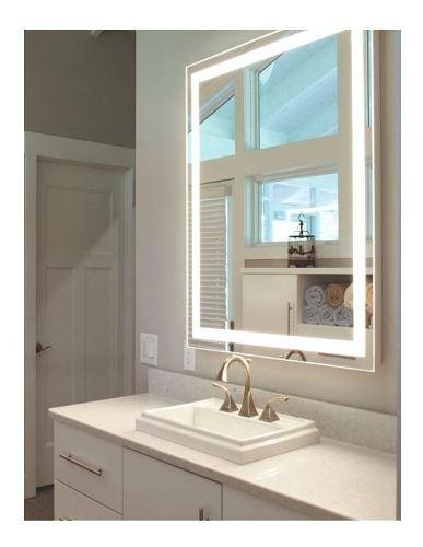 Accesorio De Espejo Baño Con Luz Led Integrada De 60x86cm