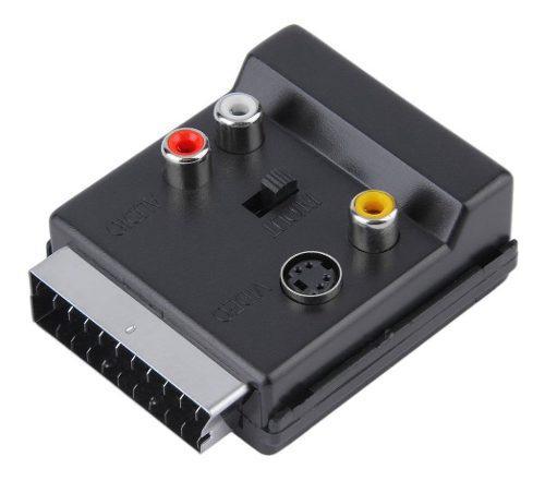 Adaptador De Euroconector Macho A Euroconector Hembra S-vide