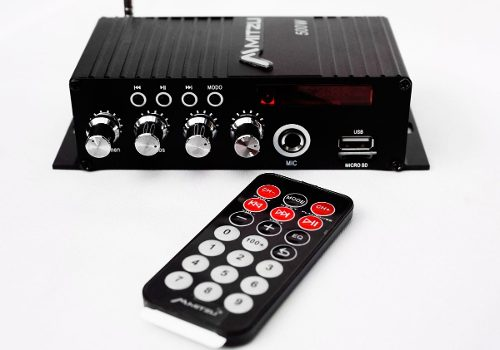 Amplificador Perifoneo Voceo Usb Fm Mp3 Mic Bluetooth
