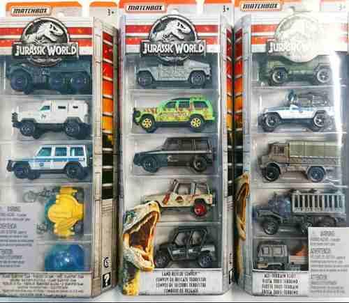 Autos Miniatura Transporte Matchbox Jurassic World 5 Pack