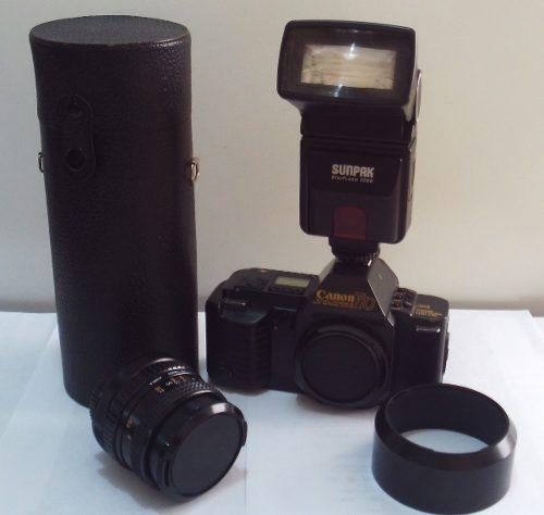 Camara Canon T70 Reflex Slr 35mm 2 Lentes Flash