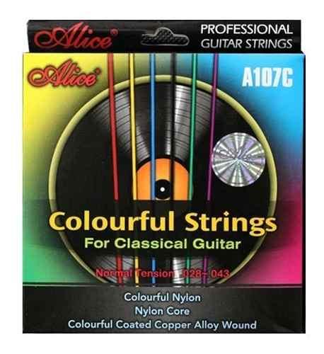 Cuerdas Para Guitarra Acústica De Colores - Nylon