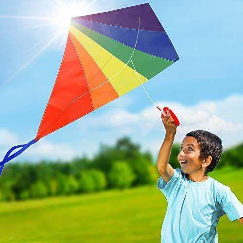 Diamond Rainbow Kite Para Niños Y S Para Playa Y Juegos Al