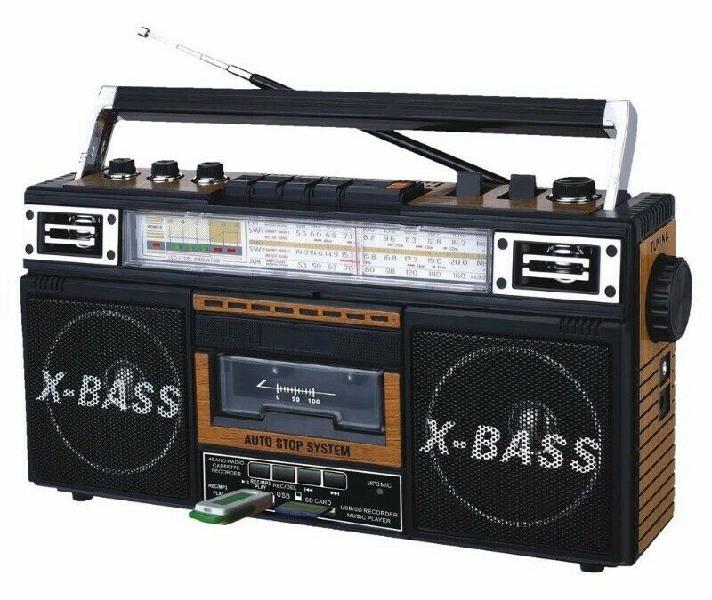 Grabadora Radio A Cassette En Mp3 Fm Sw Sd Am Qfx J-22u