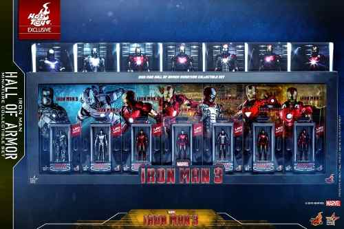 Hot Toys Iron Man 3 Hall Of Armor Miniature Set Toylover