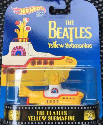 Hotwheels 50th The Beatles Yellow Submarine Retro