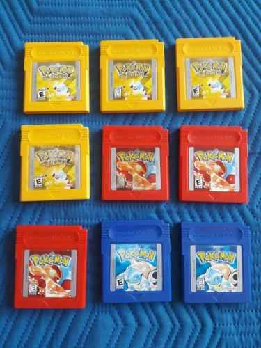 Juegos De Pokemon Gameboy Color Amarillo, Rojo Y Azul Graban
