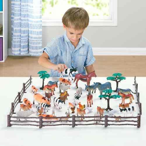 Juguetes Animalitos De Granja En Miniatura 40 Piezas Juego