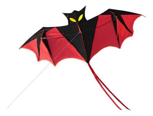 Kite De Poder De Murciélago Rojo De 180 Cm Con Asa Y Cometa