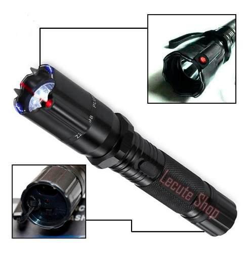 Lampara Tactica Led Descarga Electroshock Laser Toques Defe