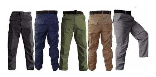 Pantalon Tactico Hombre Militar Comando Policia Gris Militar