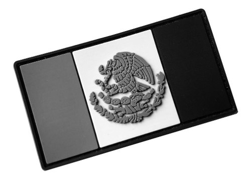Parche Insignia Táctico Militar Gotcha Bandera México Gris