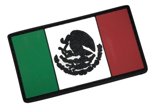 Parche Insignia Táctico Militar Gotcha Bandera México Pvc