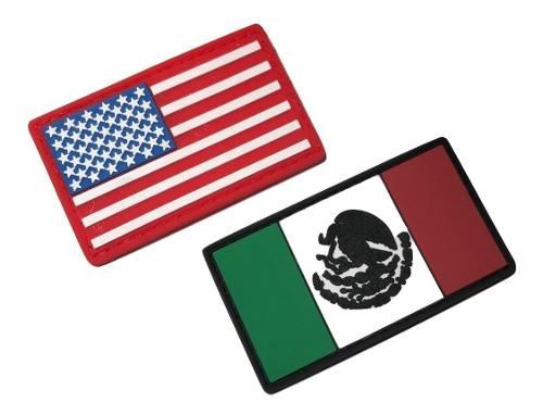 Parche Insignia Táctico Militar Gotcha Mexico + Usa Set 2