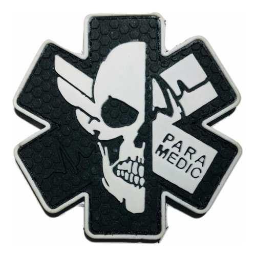Parche Insignia Táctico Militar Gotcha Paramedico Skull