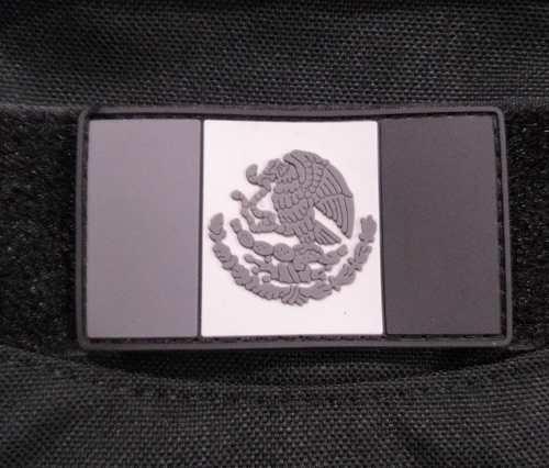 Parche Pvc Bandera Gris, Con Velcro
