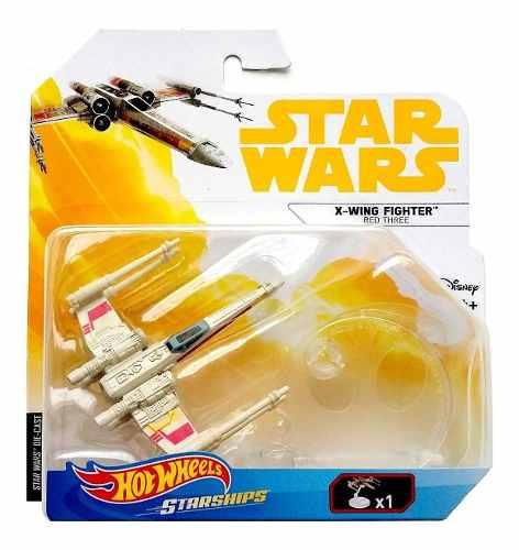 X-wing Fighter Red Three Star Wars Hotwheels Naves Miniatura