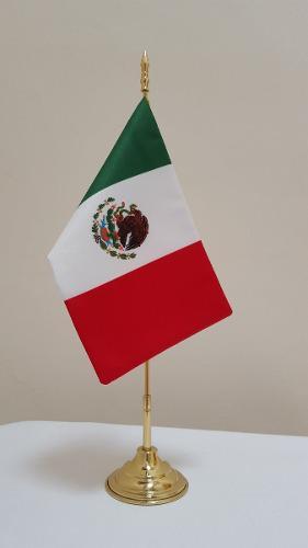 1 Bandera Escritorio, Impresión, Asta De Laton