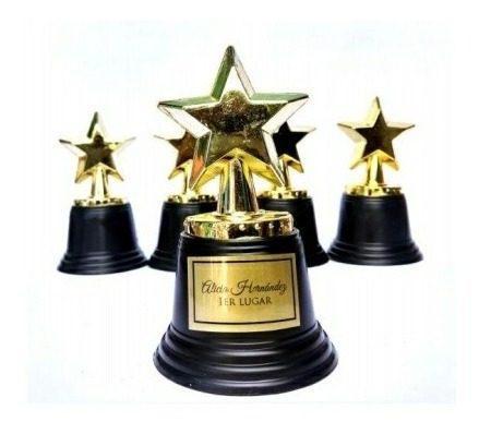 25 Estrella Trofeo Graduación Premio Personaliza