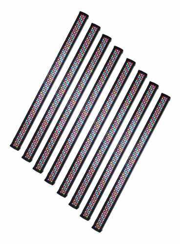 Barra Led Rgb 8 Secciones 240 Leds Dmx Combo De 8 Piezas