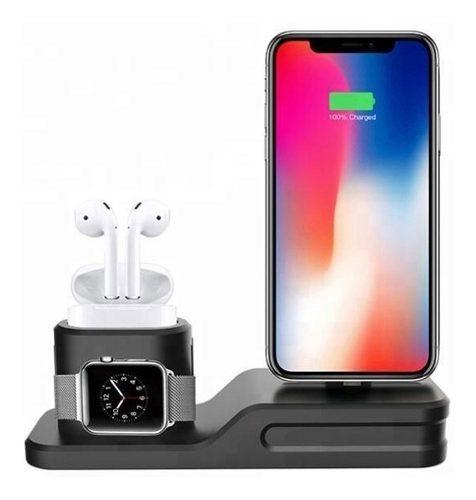 Base Para iPhone AirPods Apple Watch Dock Estación Carga +