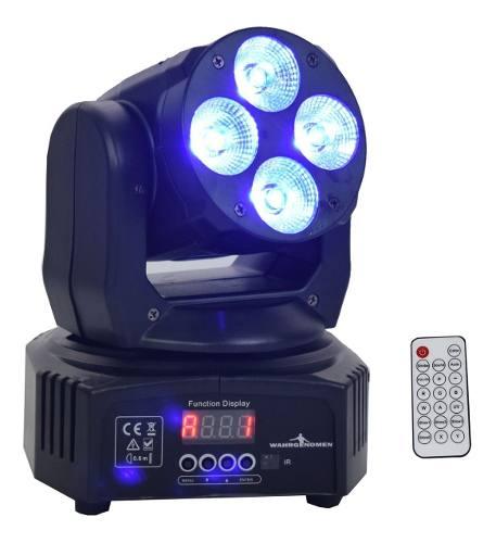 Cabeza Movil Led Rgbw Luz Dj Disco Robotica Dmx Con Control