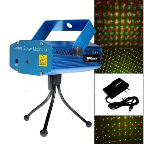 Estacion Luz Laser Audioritmico Multipuntos Bicolor Tripie