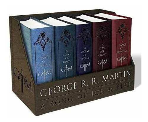 Game Of Thrones Juego De Tronos Box Set 5 Libros Ed. De Lujo